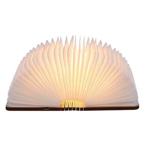 lampara con forma de libro