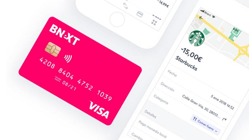tarjeta sin cuenta bnext