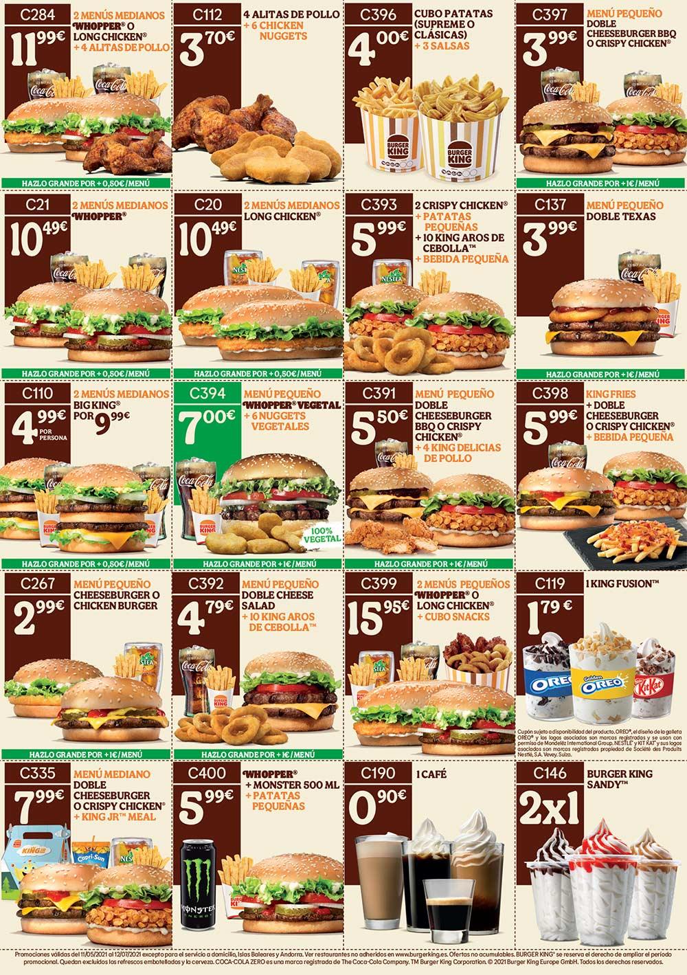 Ofertas y Cupones Burger King Agosto 2021